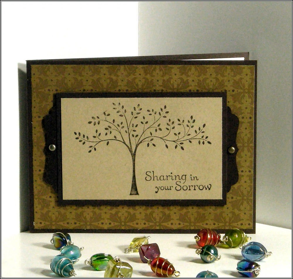 Sharing your Sorrow - Sorrow Loss Sympathy Thinking of You Masculine Handmade card
