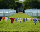 July 4th - Red, White, and Blue - Fabric Bunting - PlumfieldShop