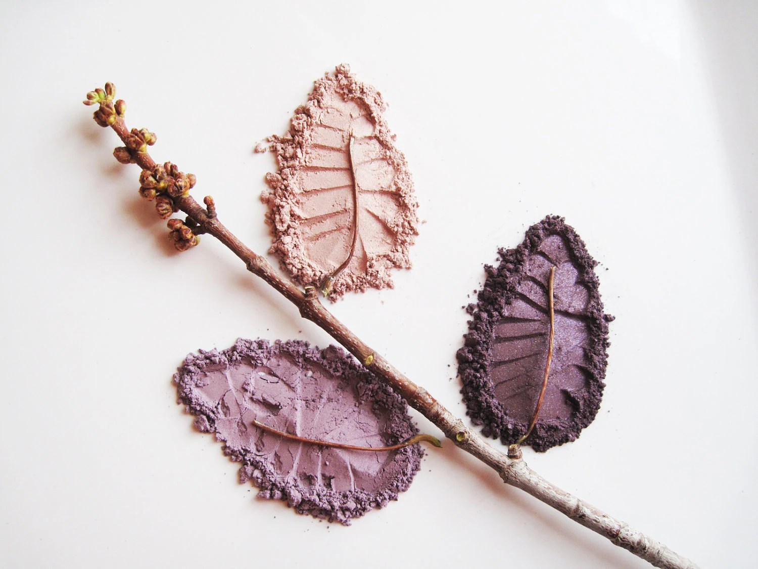Perfect Plum Kit - Set of 3 Pure and Natural Eye Shadows - WillowTreeMinerals