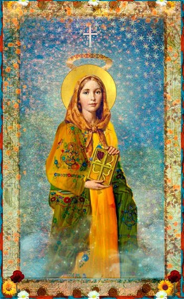 Saint Dymphna Holy Card