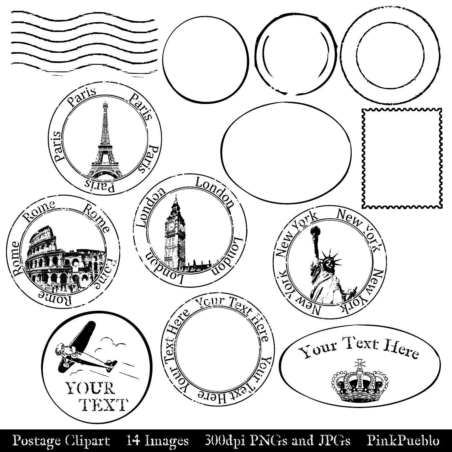 Postage Clip Art Clipart Postmark Clip Art Clipart By