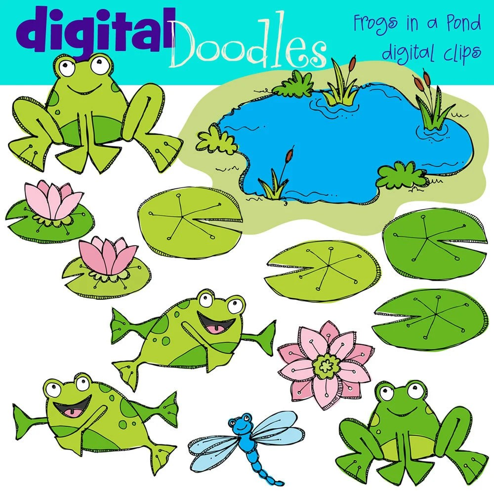 cute frog clip art cute little frogs lilly pads