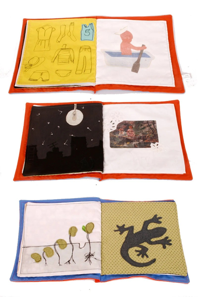 Fabric book - handmade colorful Original illustrated soft cloth senses book free shipping