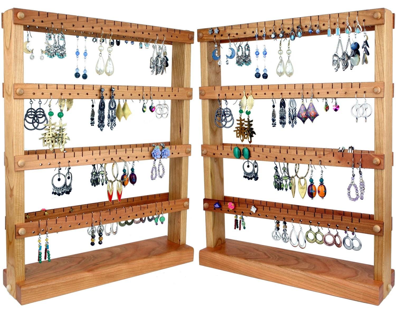Jewelry Organizer Stand Jewelry Stand Cherry Wood