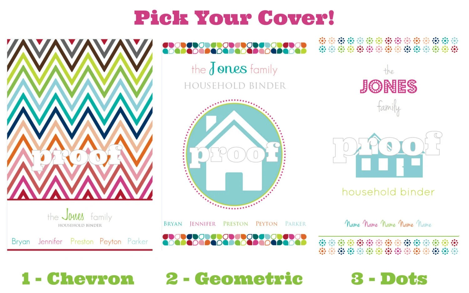 Personalized Household Binder Everything Printable