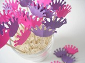 24 Decorative fushia purple princess crown toothpicks party picks food picks cupcake toppers - No563 - BelowBlink