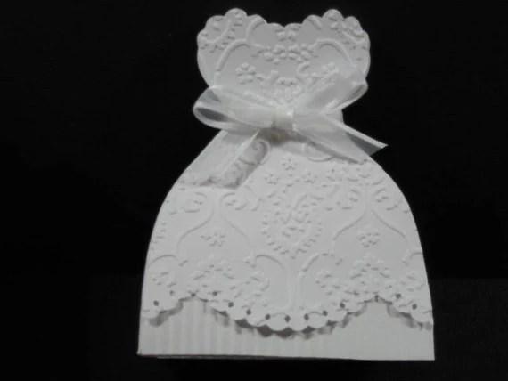 10 Bridal Gown Bride Dress Wedding Favor Boxes Bridal Shower