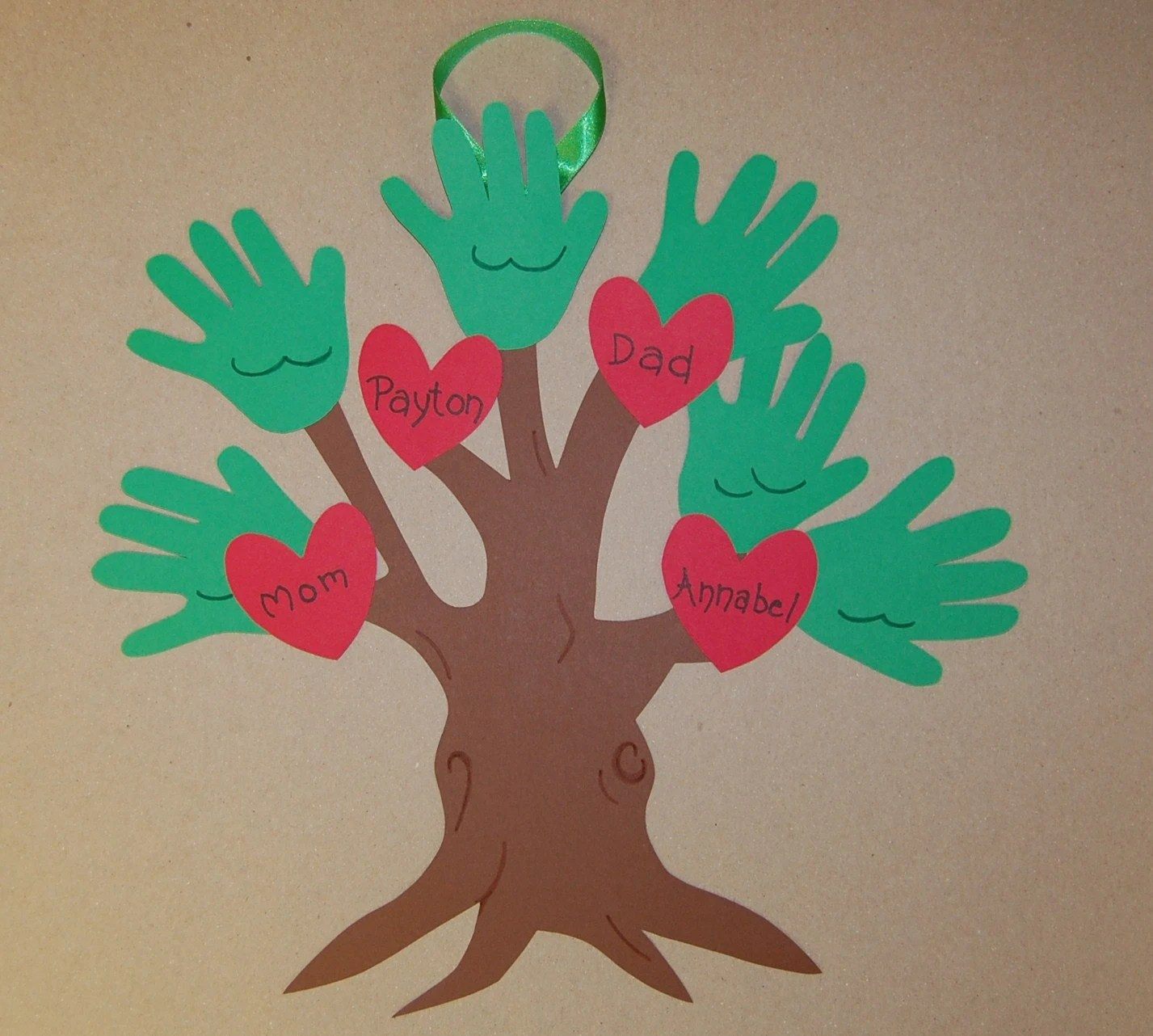Clearance Handprint Family Tree Keepsake Craft By