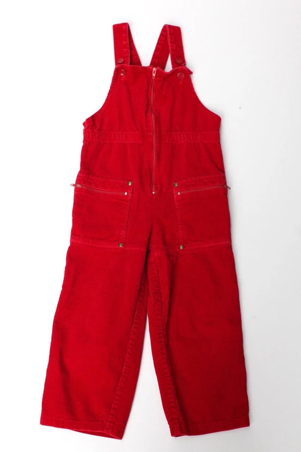 Size 3T Red Corduroy Overalls