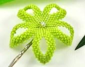 Hawaiian hair flower - opaque sour apple green - Kiwi - lostaloha