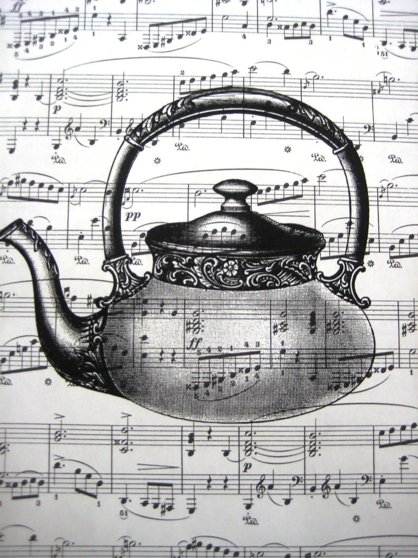 Vintage Sheet Music Print Tea Kettle Print Buy Any Prints