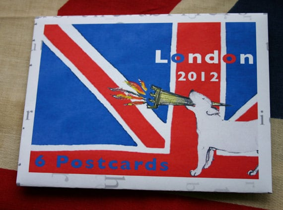 Bull Terrier Postcard Set  - London 2012