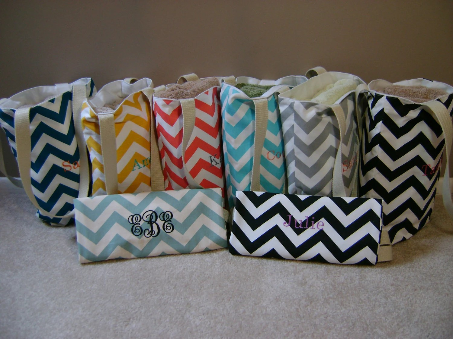 Bridesmaids Gifts 4 Small Beach Bag Pool Tote By