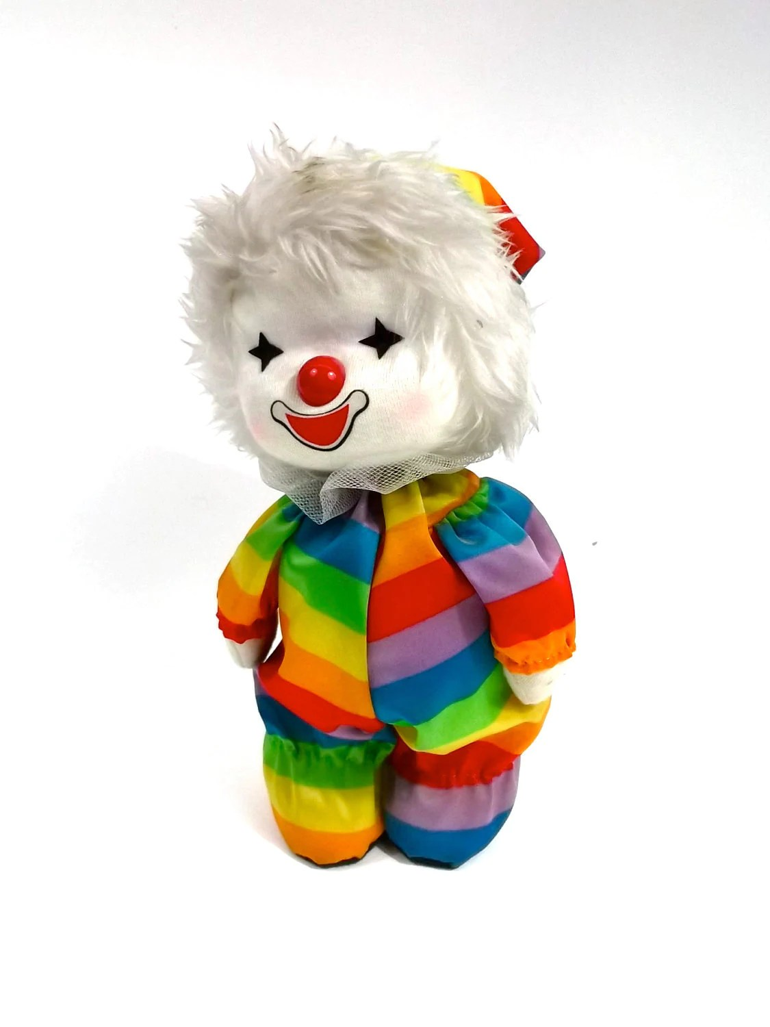 CLOWN Rainbow Wind Up Musical Collectable BIG Toy Musical