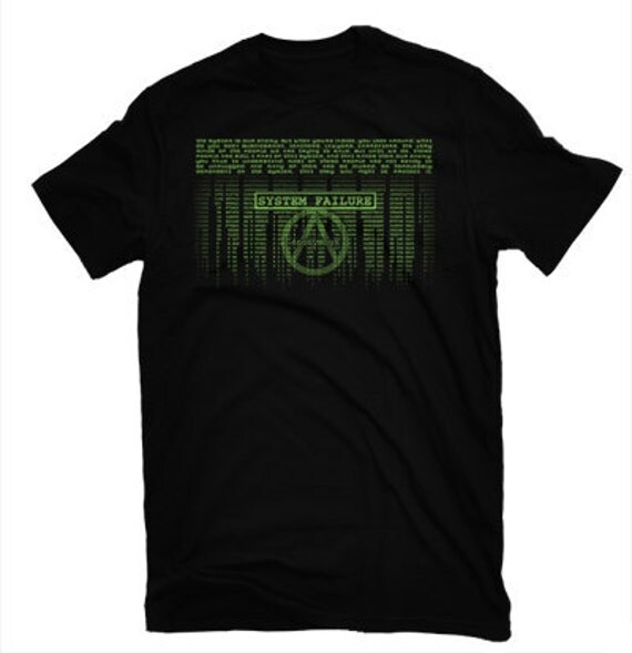 ANONYMOUS inspired  Matrix  Morpheus quote to Neo Black T Shirt Free US Shipping