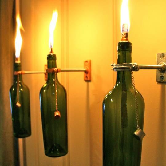 candele fai da te con le bottiglie