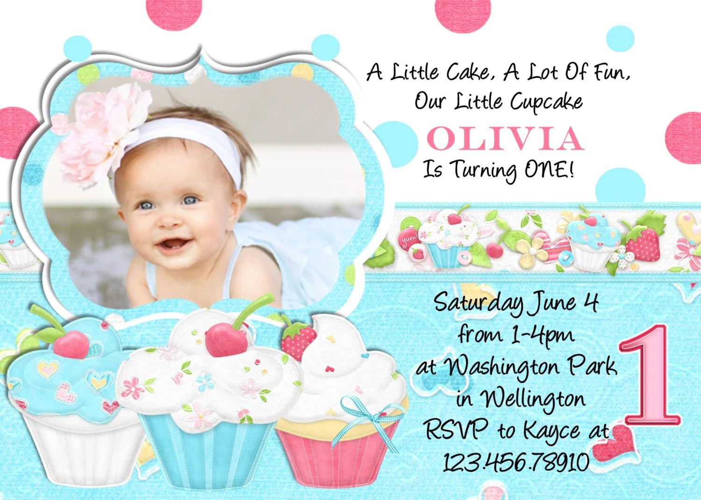 Cupcake Birthday Party Invitation You Print Digital By 3peasprints