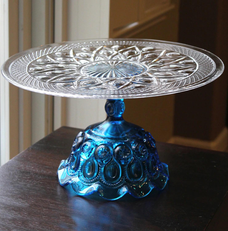 Glass Cake Stand 14 Cake Plate Wedding Pedestal For