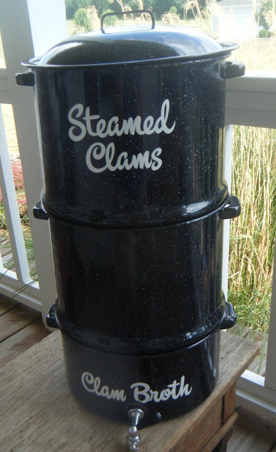 Reserved For Alanahall Stacking Clam By Instantcottagecharm