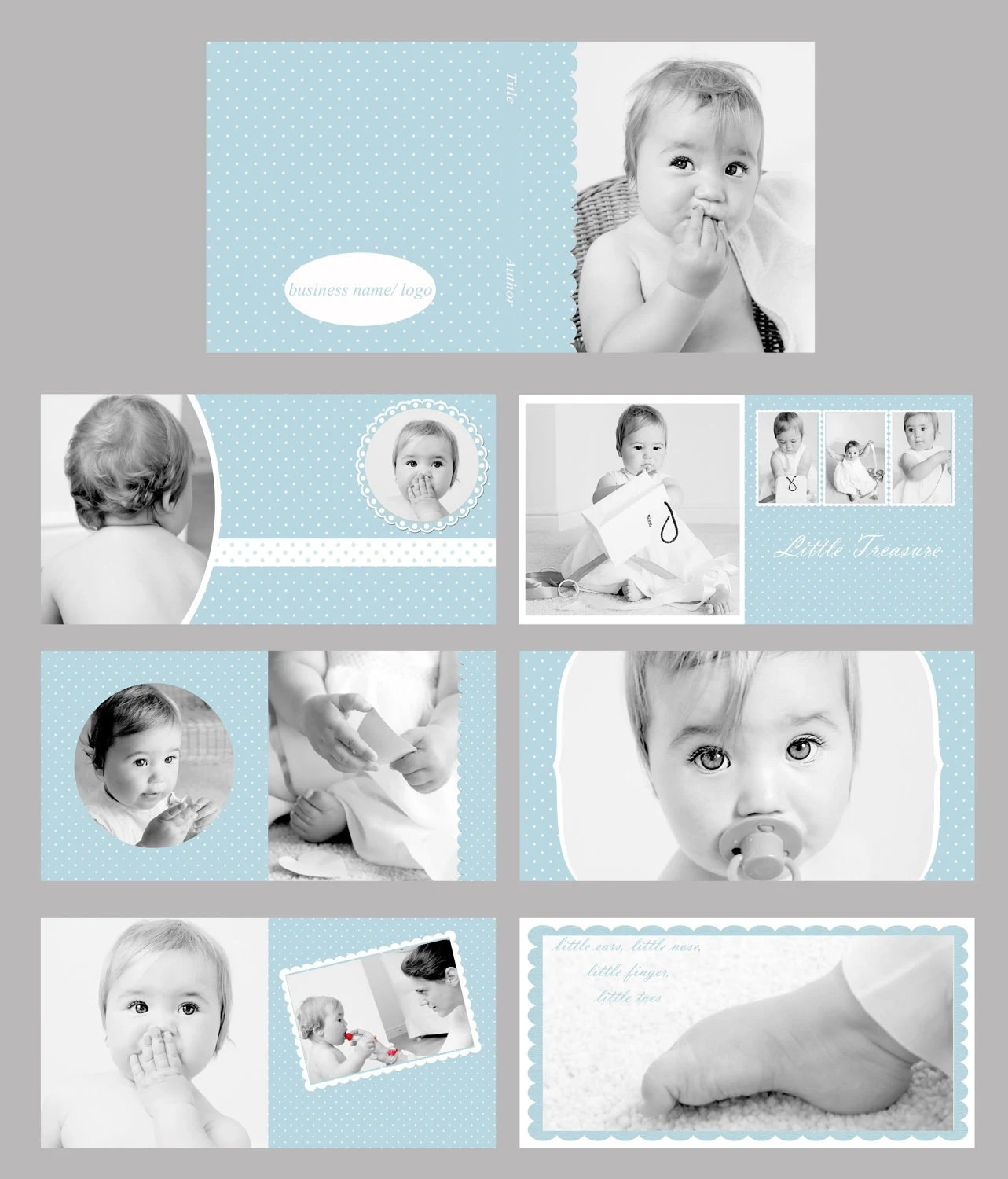 Baby Blue Photo Album Photo Book Template Set By Kasiaboutique