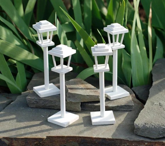 White Wooden Lamp Posts Mini 525 Collection Of