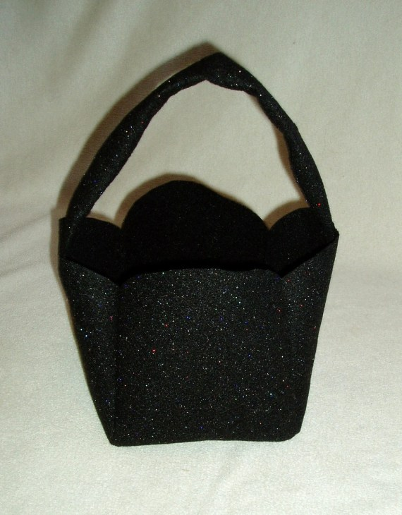 Felt Treat Bag Basket - Sparkling Black - BrennysBibbies