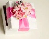 Wedding Anniversary Baptism Bridal Shower Baby Shower Favors Ring Jewelry Box Handmade Personalized Gift Pink - CutePP