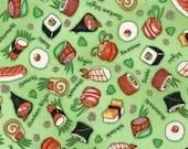 Wasabi colored Sushi Fabric Robert Kauffman fat quarter 5.99 - marcellassewing