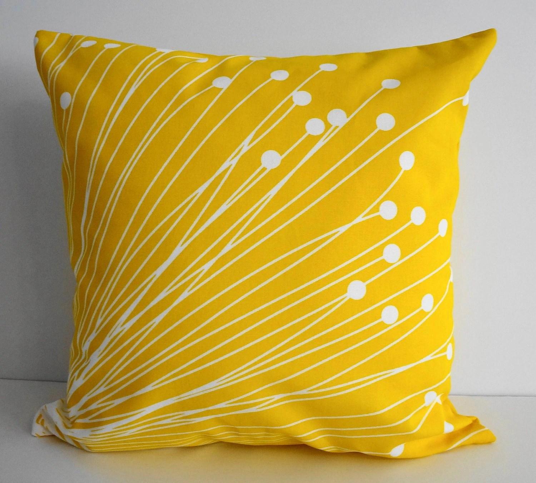 Yellow Starburst Pillow Covers Decorative Throw Pillow