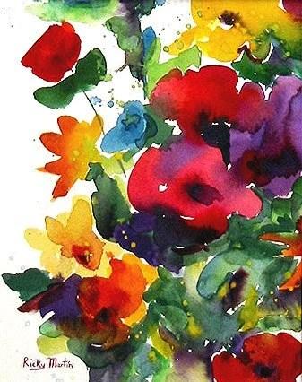 Flower Bunch Watercolor via Etsy