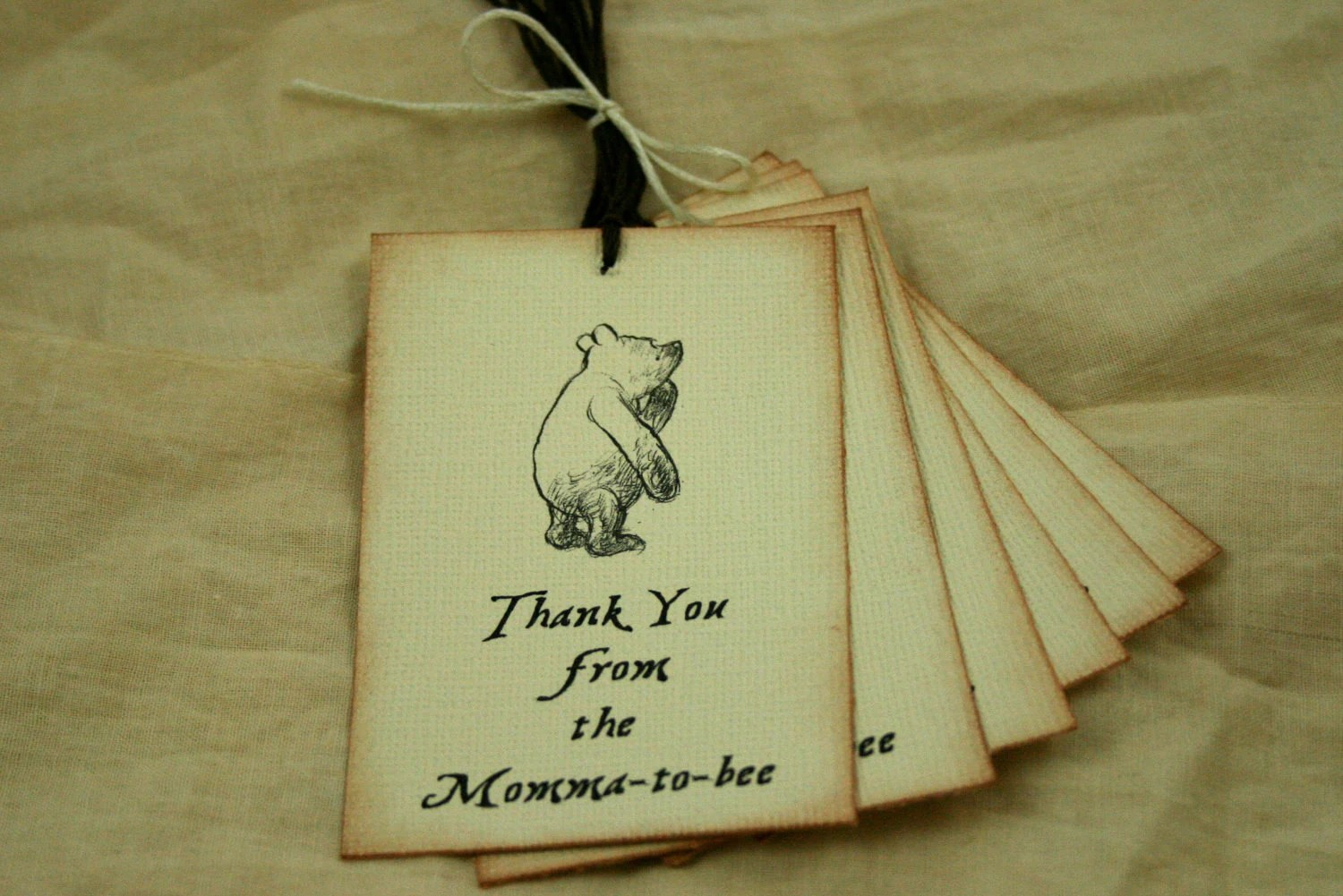 Items Similar To Baby Shower Tags Vintage Winnie The Pooh