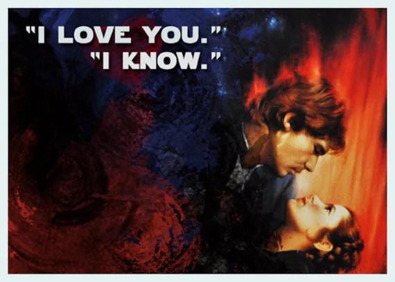 Download I love you. I know. Star Wars Card/Print DIY