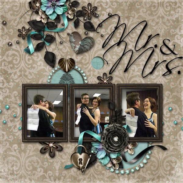 Mr Amp Mrs Wedding Premade Digital Scrapbook By