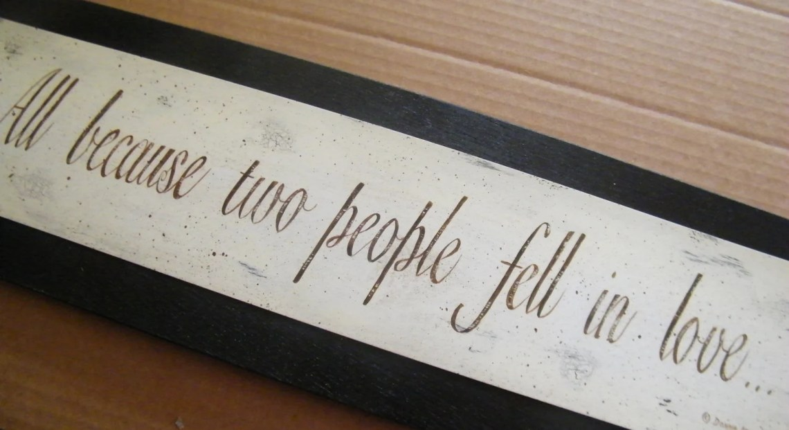 Download All Because Two People Fell In LOVE Sign Retro by carolalden