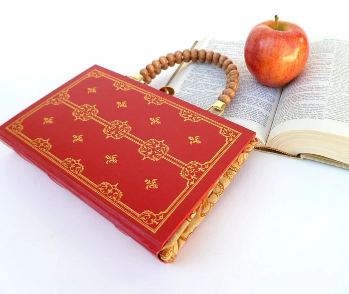 Pride and Prejudice Book Purse Handbag and Kindle Ereader Cover- by Jane Austen (with compact pocket mirror)