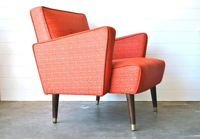 Mid Century Coral Arm Chair Etsy Front Page Item