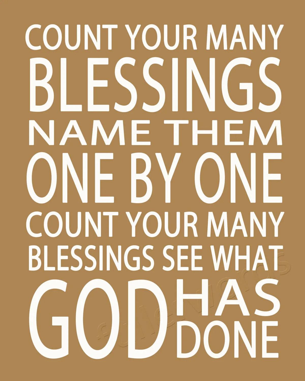 Count Your Blessings Hymn Lyrics Digital Printable Word Art