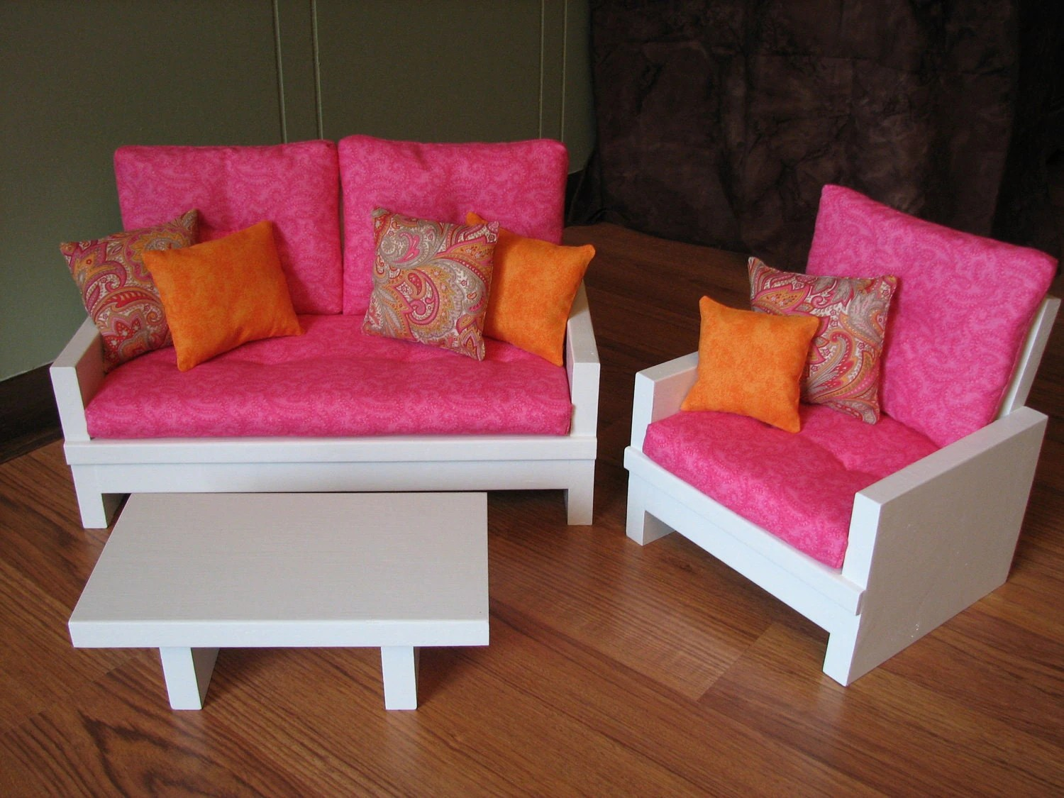 American Girl Sized 18 Doll Living Room By MadiGraceDesigns