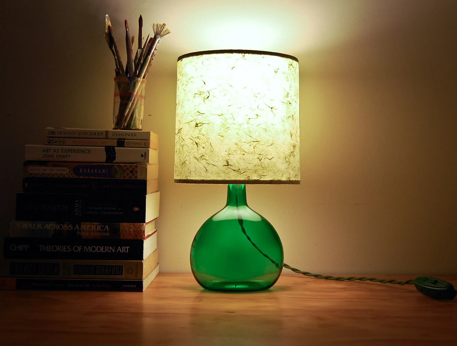 Iu0027m Particularily Obsessed With Lamps Made By Share Studios. Isnu0027t This  Vintage Green Glass Bottle Lamp The Most Beautiful Thing Youu0027ve Ever Seen?