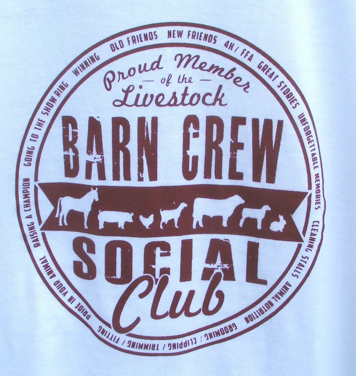 On Sale Livestock Barn Crew Social Club Tshirt