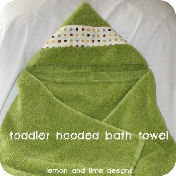 Custom Baby, Toddler, Child's Hooded Bath Towel - lemonandlimedesigns