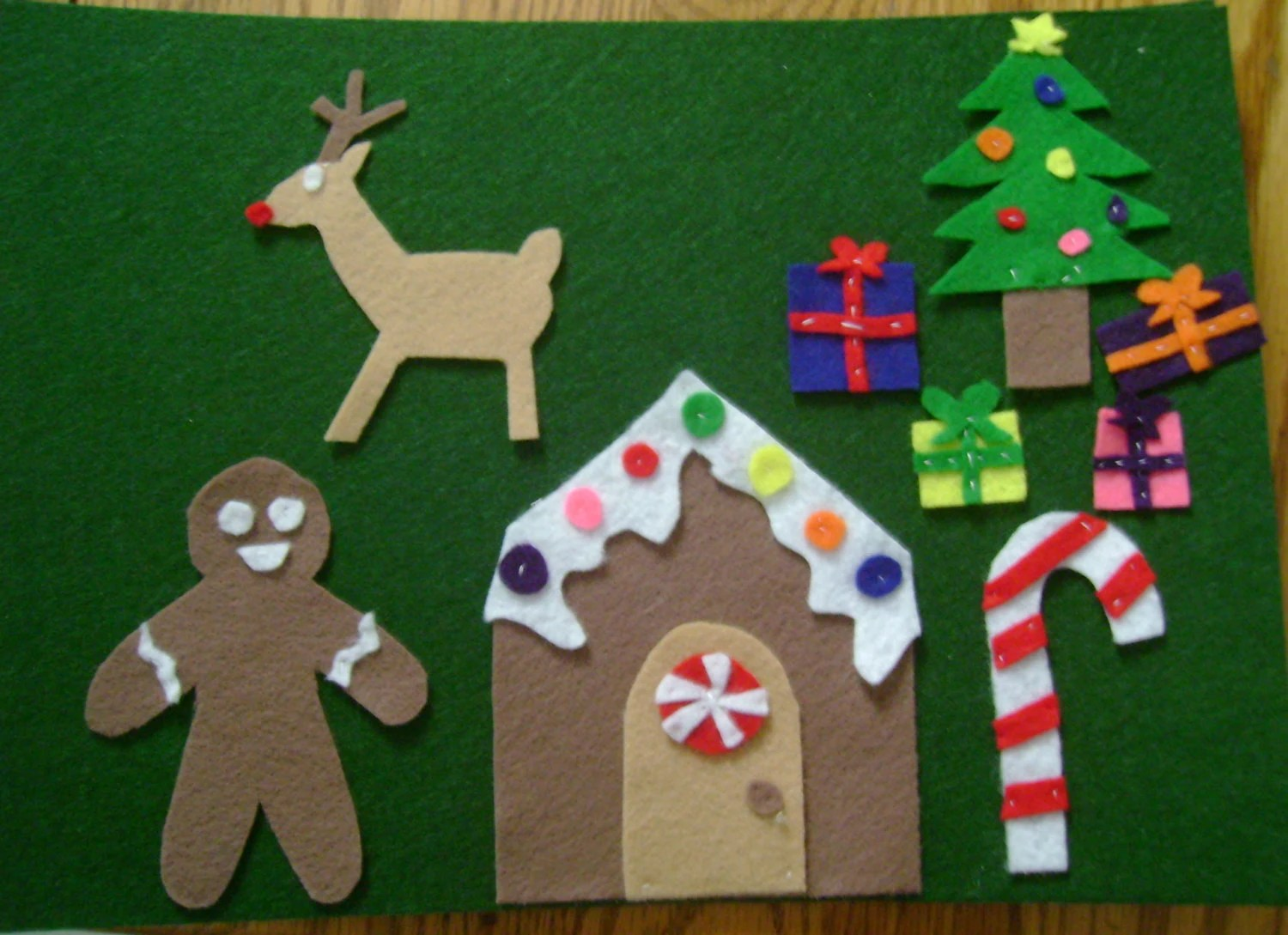 Christmas Themed Felt Board Play Pieces By Princesssilva