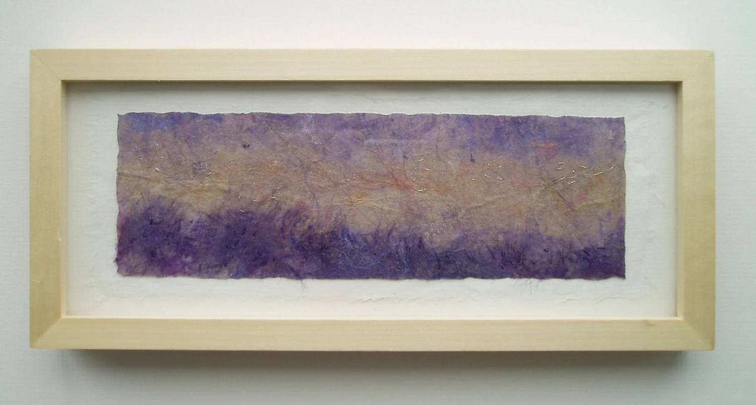 TEXTILE ART PICTURE lavender fields.  Textile art impression