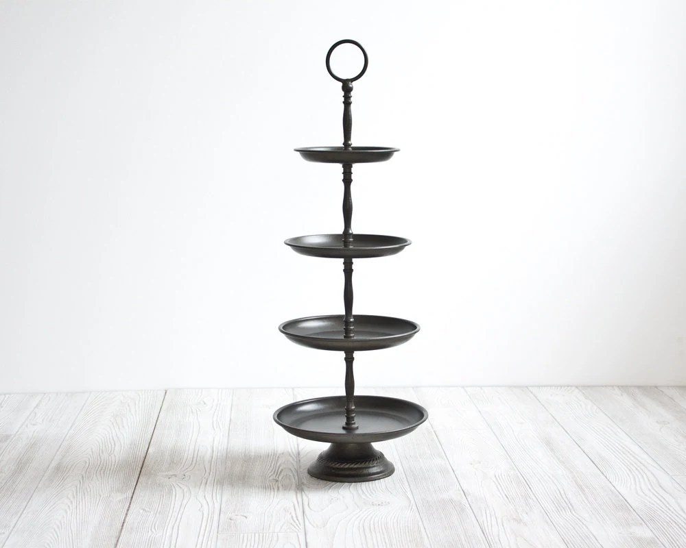 Metal Display Stand, Pedestal, Tiered, Dessert, Serving Stand - DailyGeneral