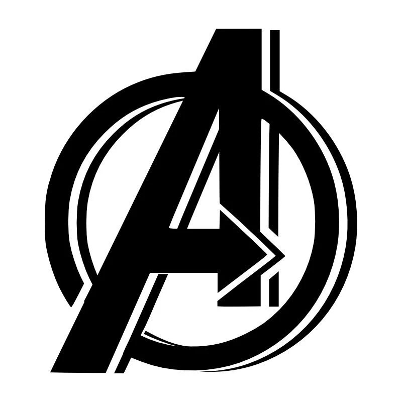 avengers logo colouring pages