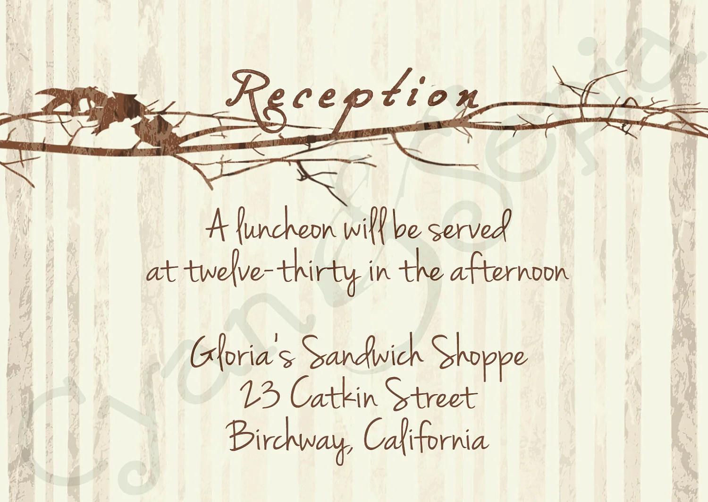 Printable Wedding Reception Enclosure Card 3 5x5
