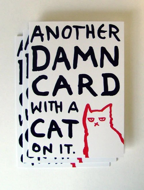 Another Damn Cat Card - pack of three - HileyRemarkable
