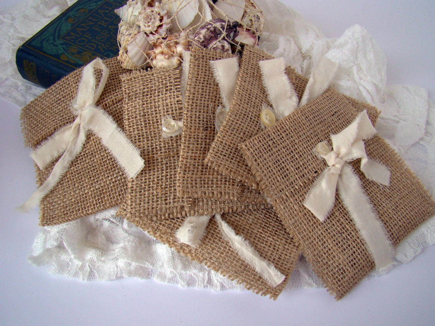 Rustic Burlap Wedding Favor Gift Bag By TwiningVines On Etsy
