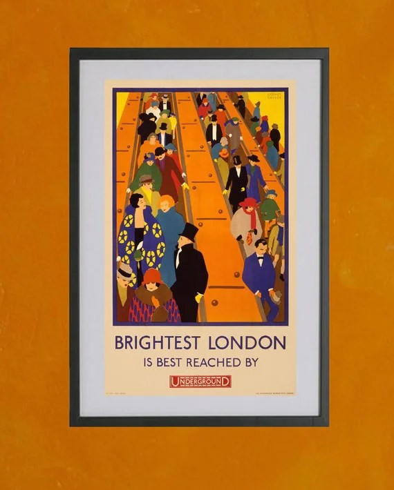 London Underground Subway Poster, 1924 - 8.5x11 Poster Print - also available in 13x19 - see listing details