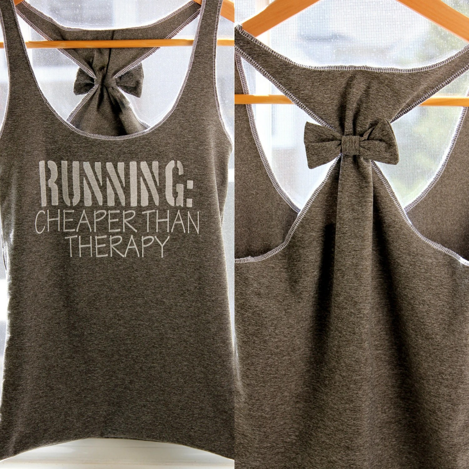 Running Workout Clothes RUNNING Cheaper than Therapy - Large - personTen